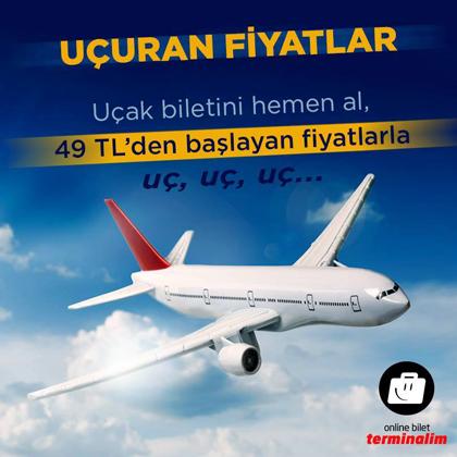 Uçuran Fiyatlarla Uçak Biletleri