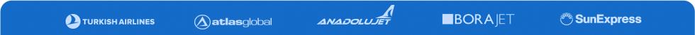 THY AtlasGlobal Anadolujet Borajet Sunexpress Uçak Bileti